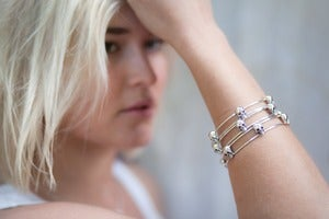 Image of Believer Skull Bangle 