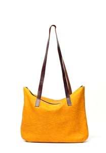 Image of TCB - Zipper Buffalo Leather Bag