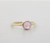Image of Stella: Mermaid Ring w. Purple Amethyst