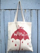 Image of I Love Wellington tote bag Red