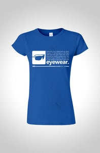 Image of Roadie Rules Womens Cycling T-Shirt - Eyewear