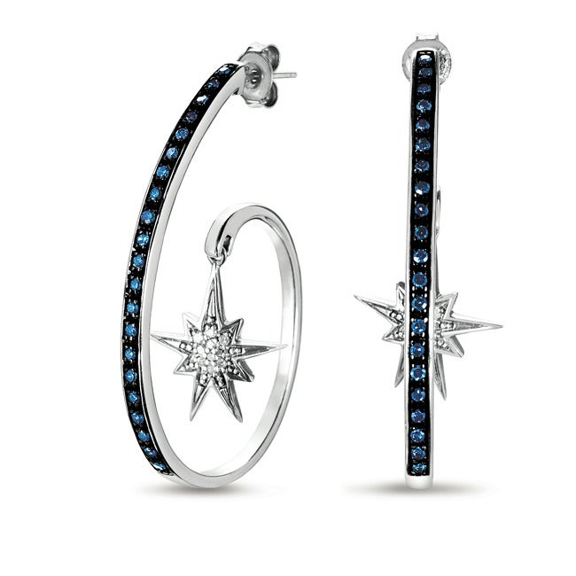 Image of Spirit Star Hoop Earrings