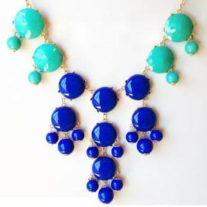 Image of Bubble Necklace: Two-toned blues