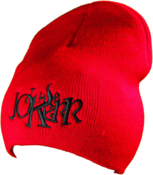 Image of The Jokerr Beanie - Black on Red