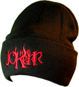 Image of The Jokerr Beanie - Red on Black (FOLD UP)