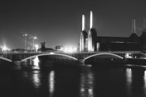 Image of Battersea Power Station, London - Black & White Print 16x12""