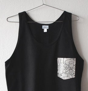 Image of BEACH PEOPLE POCKET TANK TOP (black)