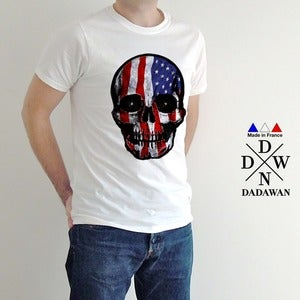 Image of T-shirt homme Hell Yeah Thug Life American Skull by Dadawan 