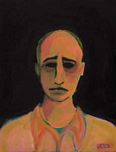 Image of 'Bad Composer' ~ An original painting by artist Omar Zingaro Bhatia