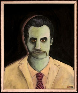 Image of Mike Patton (Faith No More) Original Artwork ~ Painting by Omar Zingaro Bhatia