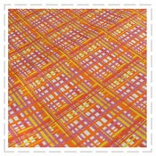 Image of Linear Tangerine Fabric by Curly Pops