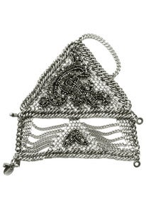Image of Byzantine chainmaille and crystal fingerless glove