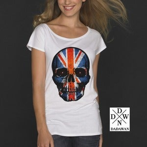 Image of T-shirt femme ample Hell Yeah Thug Life UK Skull by Dadawan