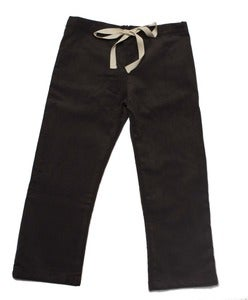 Image of Grey Corduroy Drawstring Pants