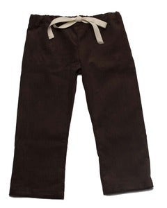 Image of Brown Corduroy Drawstring Pants
