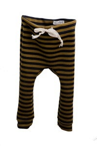 Image of Striped Baby Drawstring Leggings