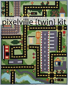 Image of Pixelville (twin) Quilt Kit