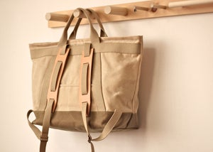 Image of Brimfield Bag - Natural & Sage Wax