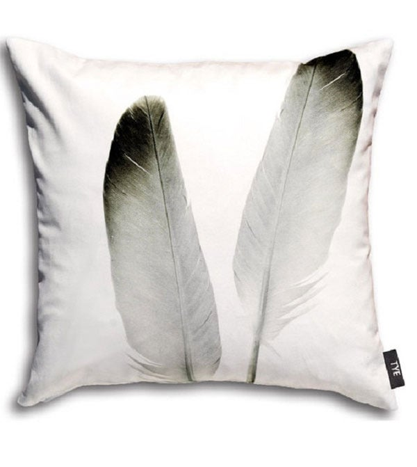 Image of Swedish Pillow Cover - &quot;Feathers&quot; (cotton)