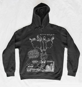 Image of Sitting Upside Down Sweatshirt (White Print)