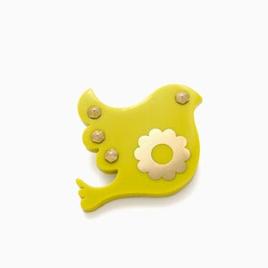 Image of Freedom Brooch | Acid Yellow + Golden