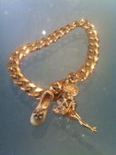 Image of Disney tinkerbell, gold chain bracelet