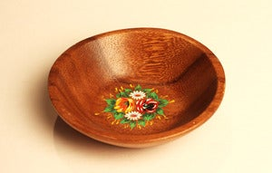 "Image of  OMARINA ""Round Wooden Dish"" - Upcycled Solid Wood Bon-Bon Bowl (Limited Number)"