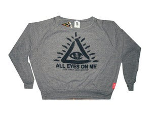 "Image of Womens ""All Eyes on Me"" Sweater (Grey)"