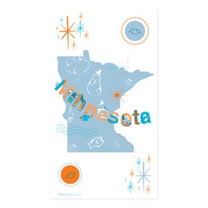 Image of Minnesota Icons State Towel