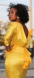 Image of Yellow Party Dress