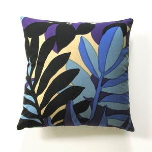 Image of Vintage Katsuji Wakisaka Marimekko Fabric Pillow, 18&quot; x 18&quot;