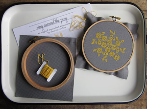 Image of Ring Around The Posey Do-It-Yourself Cross-Stitch Kit