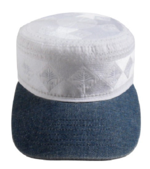 Image of Aladdin All Star Cap - White & Denim