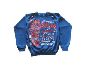 Image of Women's D.Fame Custom Bills Super Bowl Crewneck