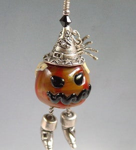 Image of Scary Mean Rotten Pumpkin Pendant
