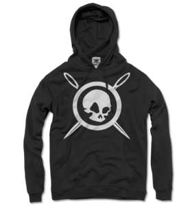 SKULL &amp; NEEDLES HOODIE (Black)