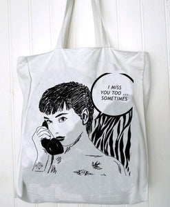 Image of sac totebag I love you too sometimes by Dadawan