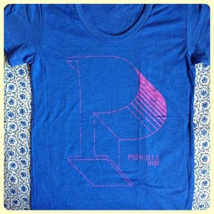 Image of Priscilla Ahn Blue T-Shirt
