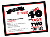 Image of printable THE BIG O 30, 40, 50, 60.... BIRTHDAY invitation (As much fun as two 20 year olds)