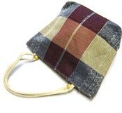 Image of Plaid Purse Earthy Tote
