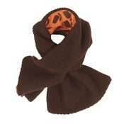 Image of l'asticot | brown woollen scarf