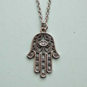 Image of Hamsa Palm Necklace