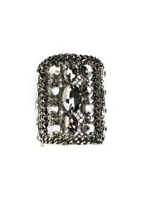 Image of Liberace Grand chainmaille and Swarovski antique silver crystal cuff + colors