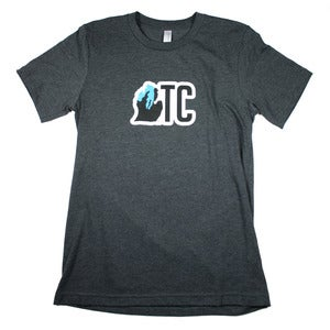 Image of TC Michigan T-Shirt Dark Gray Heather