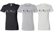 Image of HiiiPoWeR Wordmark Heather Gray/Black /White (Women's) TEE