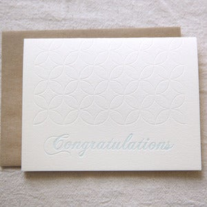 Image of Congratulations Floral Pattern notes