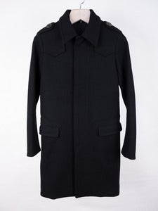 Image of Dior Homme - Belted Military Wool Coat