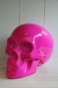 Image of Sacred Skull Ornament Hot Pink
