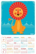 Image of 2013 Sun Lion Wall Calendar &amp; Art Print