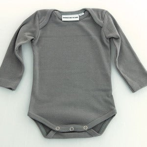 Image of Gardner Long Sleeve Romper Grey